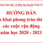 Công văn số 236/PGDĐT về việc hướng dẫn triển khai các phong trào thi đua, các cuộc vận động năm học 2020-2021
